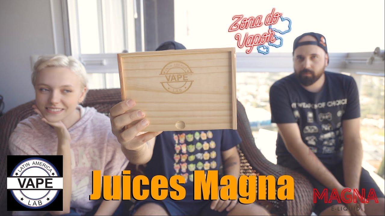 Caixa com Juices da Magna