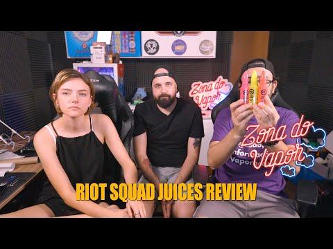 Imagem dos youtubers segurando os Juices da Riot Squad