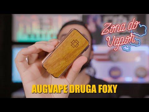 Imagem do Mod Druga Foxy da Augvape no vídeo de review