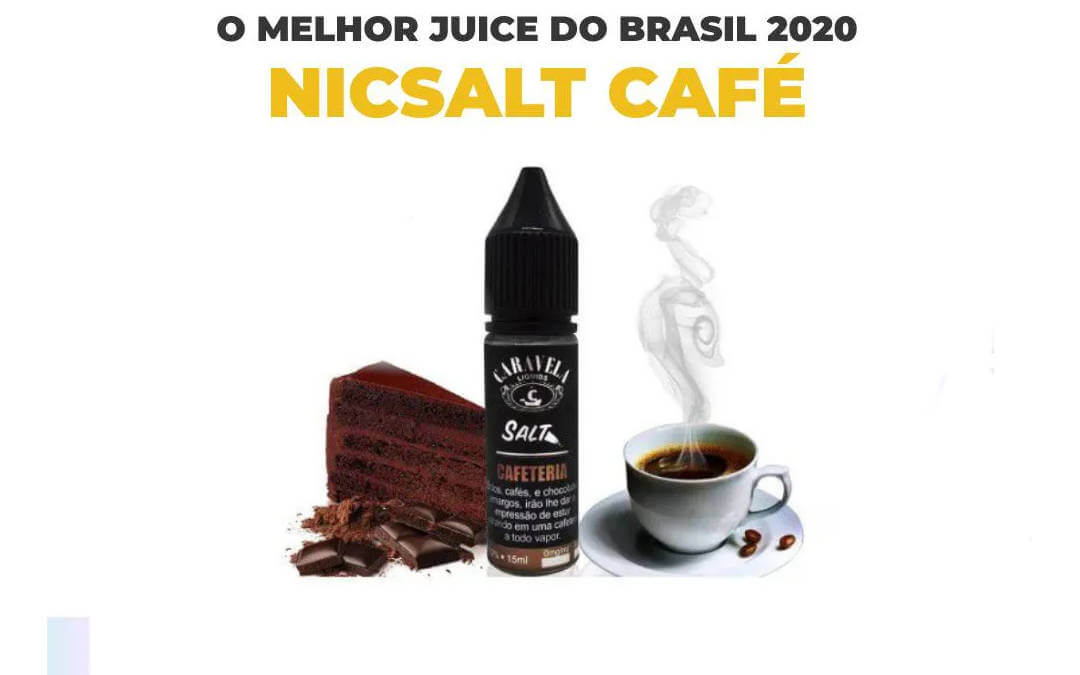 Nic Salt com sabor café - Juice Cafeteria